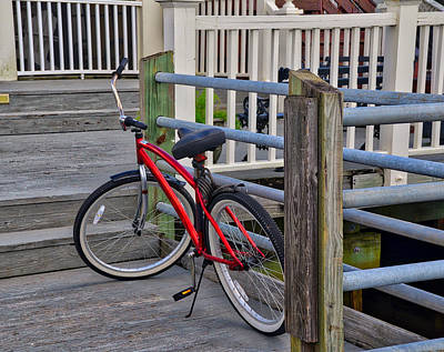 Photograph - Red Bike by Linda Brown