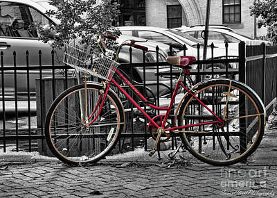 Photograph - Red Bike by Susan Cliett