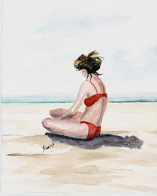 Painting - Red Bikini by Sam Sidders