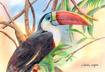 Toucan Painting - Red-billed Toucan by Arline Wagner