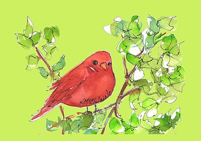 Painting - Red Bird  by Kathleen McElwaine