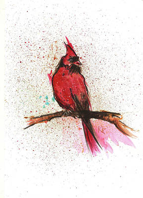 Red Bird Art Print by Remy Francis