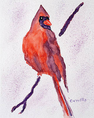 Ruben Carrillo Wall Art - Painting - Red Bird by Ruben Carrillo