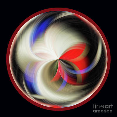 Photograph - Red Black Orb by Judy Wolinsky