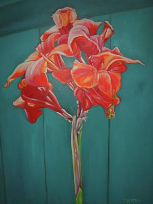 Red Bloom Art Print by John Keaton