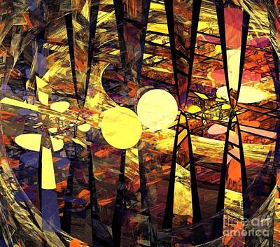 Digital Art - Red Blue Planets by Kim Sy Ok