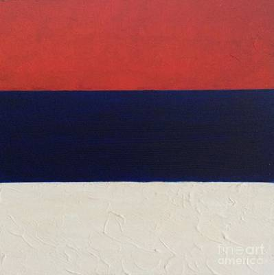 Painting - Red Blue White by Richard W Linford