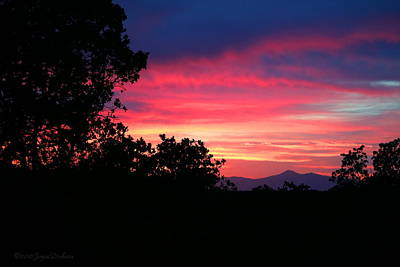 Photograph - Red Bluff Ca Sunset by Joyce Dickens