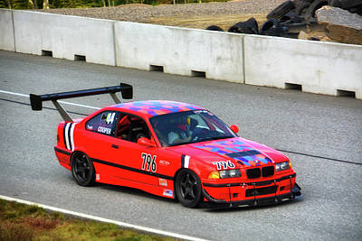 Photograph - Red Bmw 796 by Mike Martin