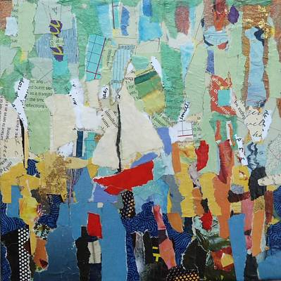 Boats In Water Mixed Media - Red Boat by Deanna White