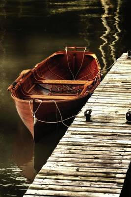 Photograph - Red Boat Docked by Karl Anderson