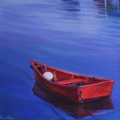 Cape Cod Painting - Red Boat by Ezartesa Art