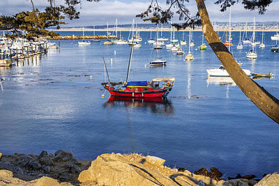 Office Gift Photograph - Red Boat by Joseph S Giacalone
