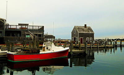 Photograph - Red Boat by Kathy Barney