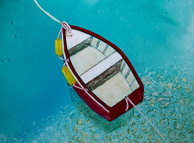 Painting - Red Boat Moored by Patricia Beebe