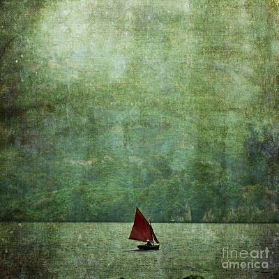 Photograph - Red Boat On Ullswater Lake by Liz  Alderdice