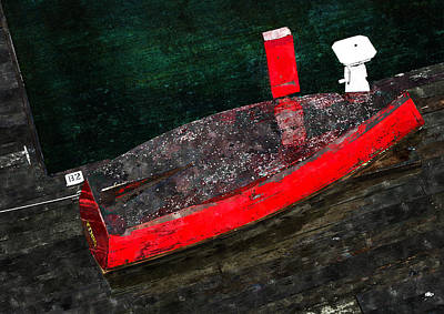 Painting - Red Boat by Rick Mosher