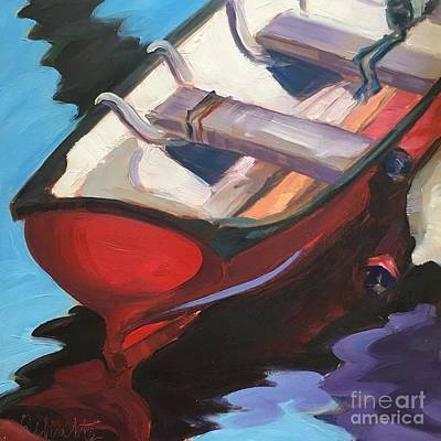 Painting - Red Boat, Rocklandoil On Panel by Lynne Schulte