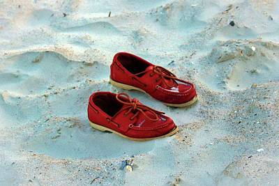 Photograph - Red Boat Shoes by Cynthia Guinn