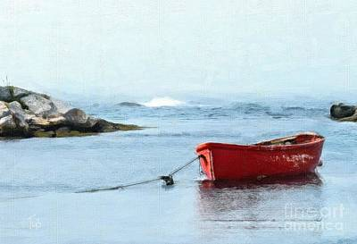 Painting - Red Boat by Tammy Lee Bradley
