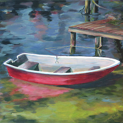 Painting - Red Boat by Trina Teele
