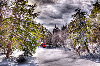 Photograph - Red Boathouse After The Storm by David Patterson