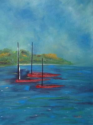 Painting - Red Boats by Judith Rhue