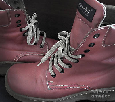 Photograph - Red Boots by Eena Bo