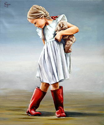 Painting - Red Boots by Natalia Tejera