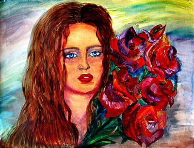 Dream Painting - Red Bouquet    by Yelena Rubin