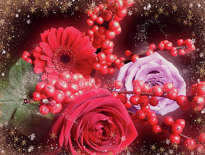 Photograph - Red Bouquet For Christmas by Johanna Hurmerinta