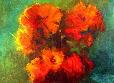 Painting - Red Bouquet by Nancy Merkle