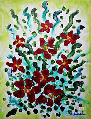 School Teaching - Red Bouquet by Sarah Loft