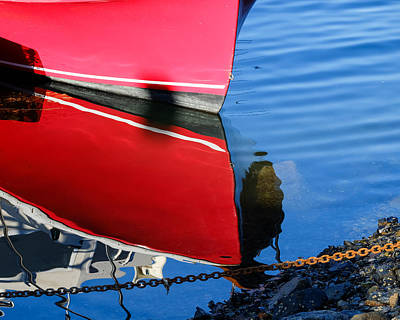 Photograph - Red Bow Reflection by John McArthur