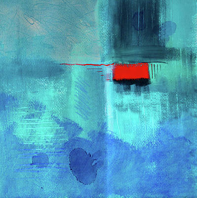 Painting - Red Box Blues by Nancy Merkle