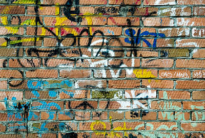 Photograph - Red Brick And Spray Can Art Tags by John Williams