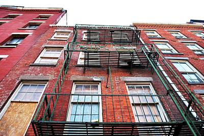Photograph - Red Brick Apartment Building - Manhattan by Matt Harang