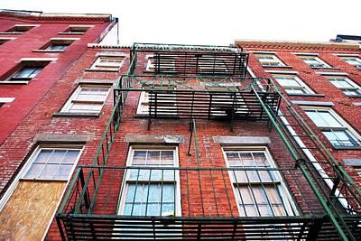 Photograph - Red Brick Apartment Building - Manhattan by Matt Harang