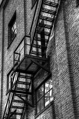 Photograph - Red Brick Building And Fire Escape II by Carol Montoya