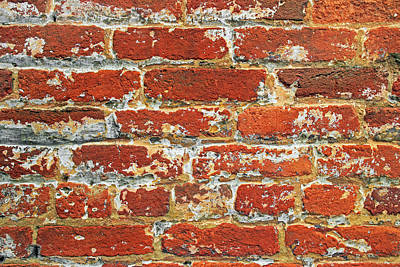 Photograph - Red Brick Wall by John Cardamone