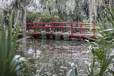 Photograph - Red Bridge At Magnolia Plantation by John McGraw