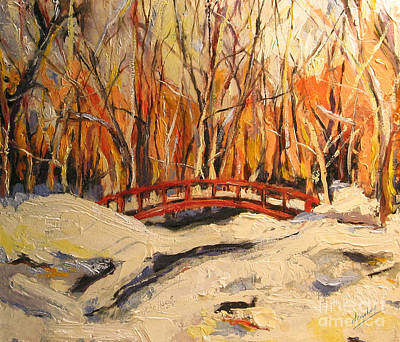 Painting - Red Bridge by Debora Cardaci