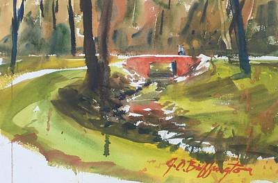 Painting - Red Bridge  by JULES Buffington