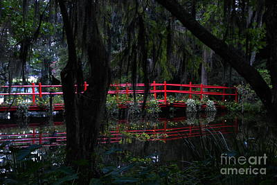 Photograph - Red Bridge Of Magnolia Plantation by Jacqueline M Lewis