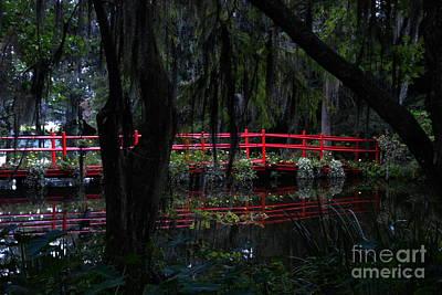 Photograph - Red Bridge Of Magnolia Plantation by Jacqueline M Lewis