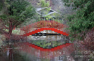 Photograph - Red Bridge Reflections by Erick Schmidt