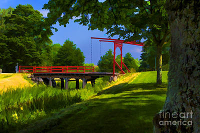 Photograph - Red Bridge by Rick Bragan
