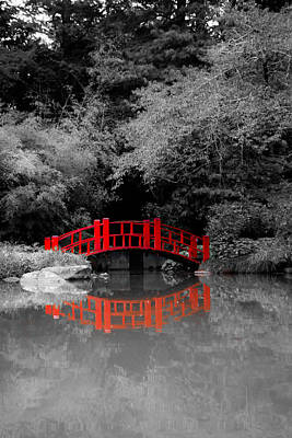 Photograph - Red Bridge by Shelby  Young