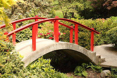 Redbridge Photograph - Red Bridge by Trudy Parman