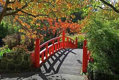 Photograph - Red Bridge With Shadows by Nareeta Martin